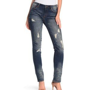 Rock Revival Mid-Rise Straight Jeans Blue